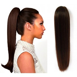 "Claw ponytail 24"" straight - dark brown"