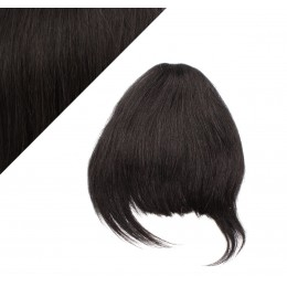 Clip in human hair remy bang/fringe - natural black