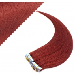 "20"" (50cm) Tape Hair / Tape IN human REMY hair - copper red"