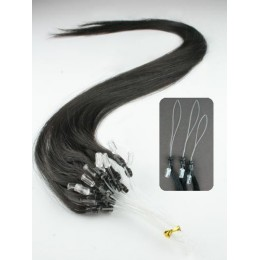 "15"" (40cm) Micro ring human hair extensions – natural black"