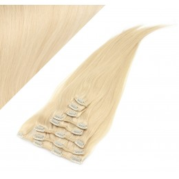 "15"" (40cm) Clip in human REMY hair - the lightest blonde"