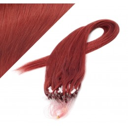 "20"" (50cm) Micro ring human hair extensions - copper red"
