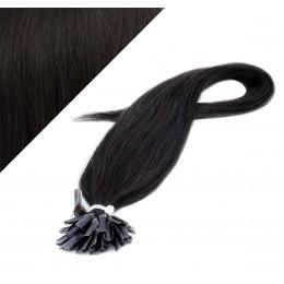 "20"" (50cm) Nail tip / U tip human hair pre bonded extensions - natural black"