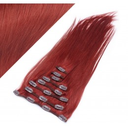 "20"" (50cm) Clip in human REMY hair - copper red"