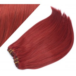 "20"" (50cm) Deluxe clip in human REMY hair - copper red"