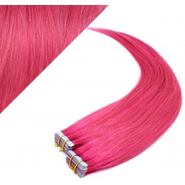 "20"" (50cm) Tape Hair / Tape IN human REMY hair - pink"