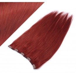 """20"""" one piece full head clip in hair weft extension straight - copper red"""