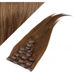 "24"" (60cm) Clip in human REMY hair - medium brown"