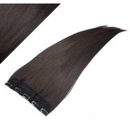"24"" one piece full head clip in kanekalon weft extension straight - natural black"