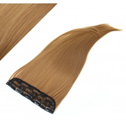 "24"" one piece full head clip in kanekalon weft extension straight - light brown"