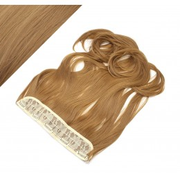 "24"" one piece full head clip in kanekalon weft extension wavy - light brown"