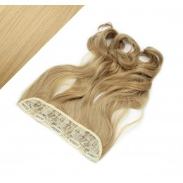 "24"" one piece full head clip in kanekalon weft extension wavy - natural blonde"