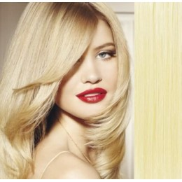 """24"""" (60cm) Clip in human REMY hair - the lightest blonde"""