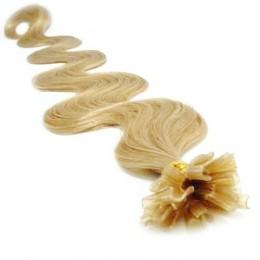 "20"" (50cm) Nail tip / U tip human hair pre bonded extensions wavy - natural blonde"