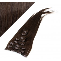 "28"" (70cm) Clip in human REMY hair - dark brown"