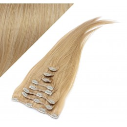 "15"" (40cm) Clip in human REMY hair 100g - natural blonde"