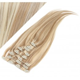 """28"""" (70cm) Clip in human REMY hair - mixed blonde"""