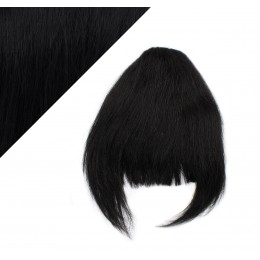 Clip in human hair remy bang/fringe - black