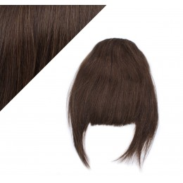 Clip in human hair remy bang/fringe - dark brown
