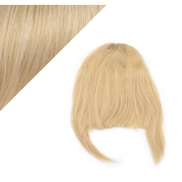 Clip in human hair remy bang/fringe - natural blonde