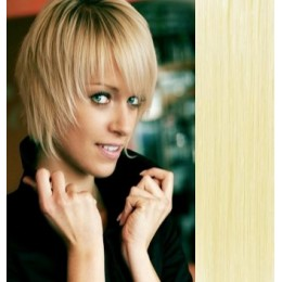 Clip in human hair remy bang/fringe – the lightest blonde