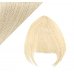 Clip in human hair remy bang/fringe - platinum blonde