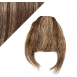 Clip in human hair remy bang/fringe - dark brown/blonde