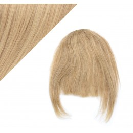 Clip in human hair remy bang/fringe - light blonde/natural blonde