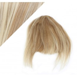 Clip in human hair remy bang/fringe - mixed blonde