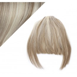 Clip in human hair remy bang/fringe - platinum/light brown